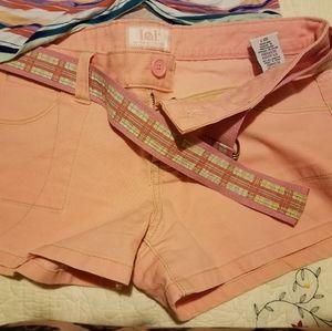 L.e.i pink coral shorts juniors 7 -Apt 9 shirt